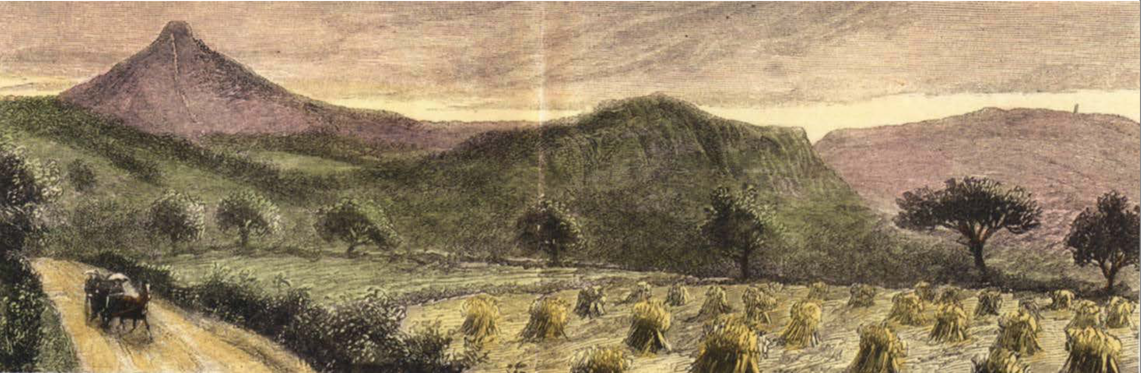 Engraving of Roseberry Topping